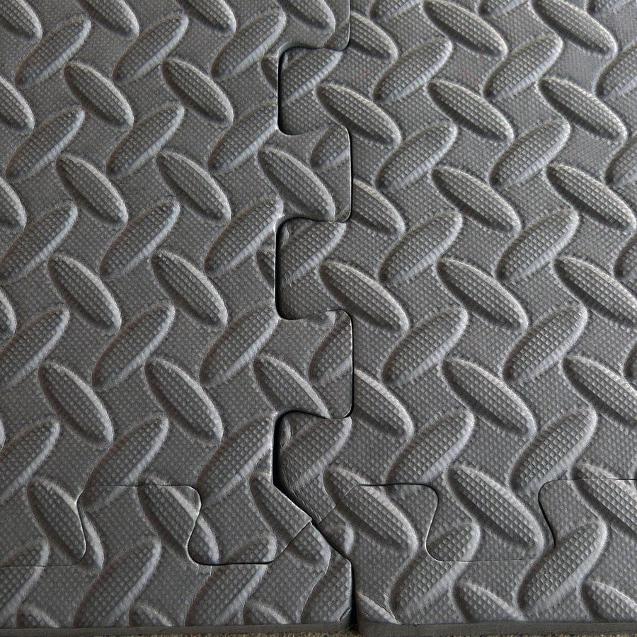 Protiúnavová modulární pěnová univerzální podložka - délka 180 cm, šířka 120 cm a výška 1,2 cm - 6 ks