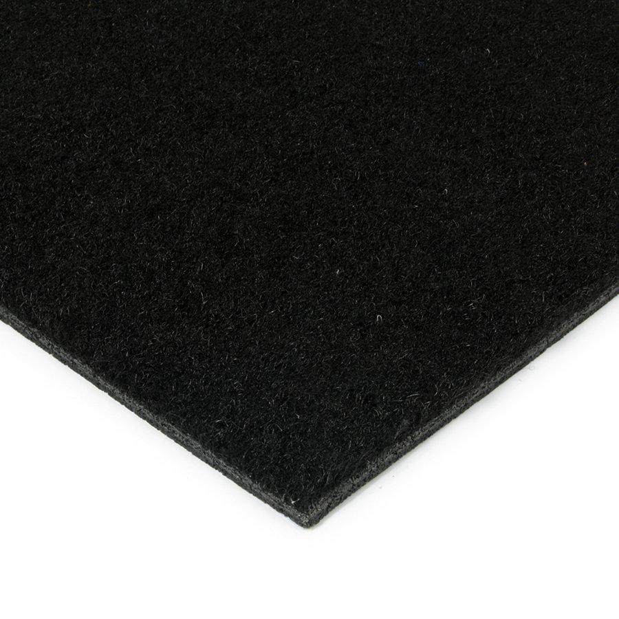 Černá kokosová zátěžová vstupní čistící zóna Synthetic Coco, FLOMA - výška 1 cm