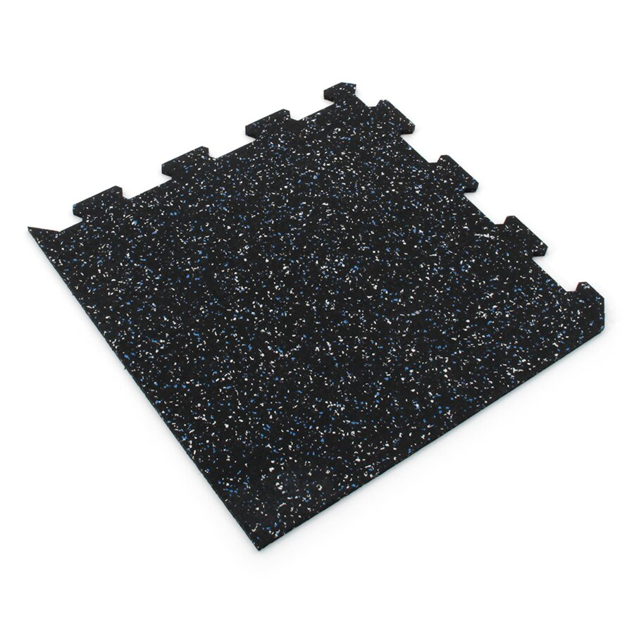 Různobarevná pryžová (5+5% EPDM STANDARD) modulární fitness deska (roh) SF1050, FLOMA - délka 47,8 cm, šířka 47,8 cm a výška 0,8 cm