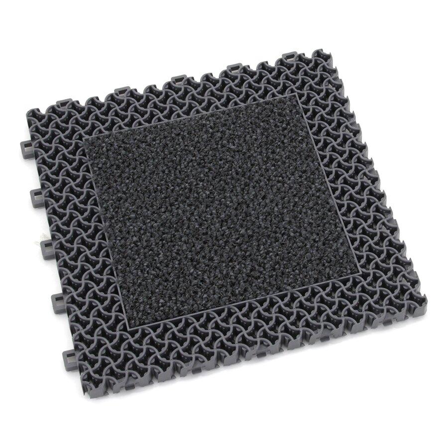 Šedá plastová textilní zátěžová vstupní rohož Modular 9900 - Aqua 85 (Bfl-S1) - délka 30 cm, šířka 30 cm a výška 2,19 cm