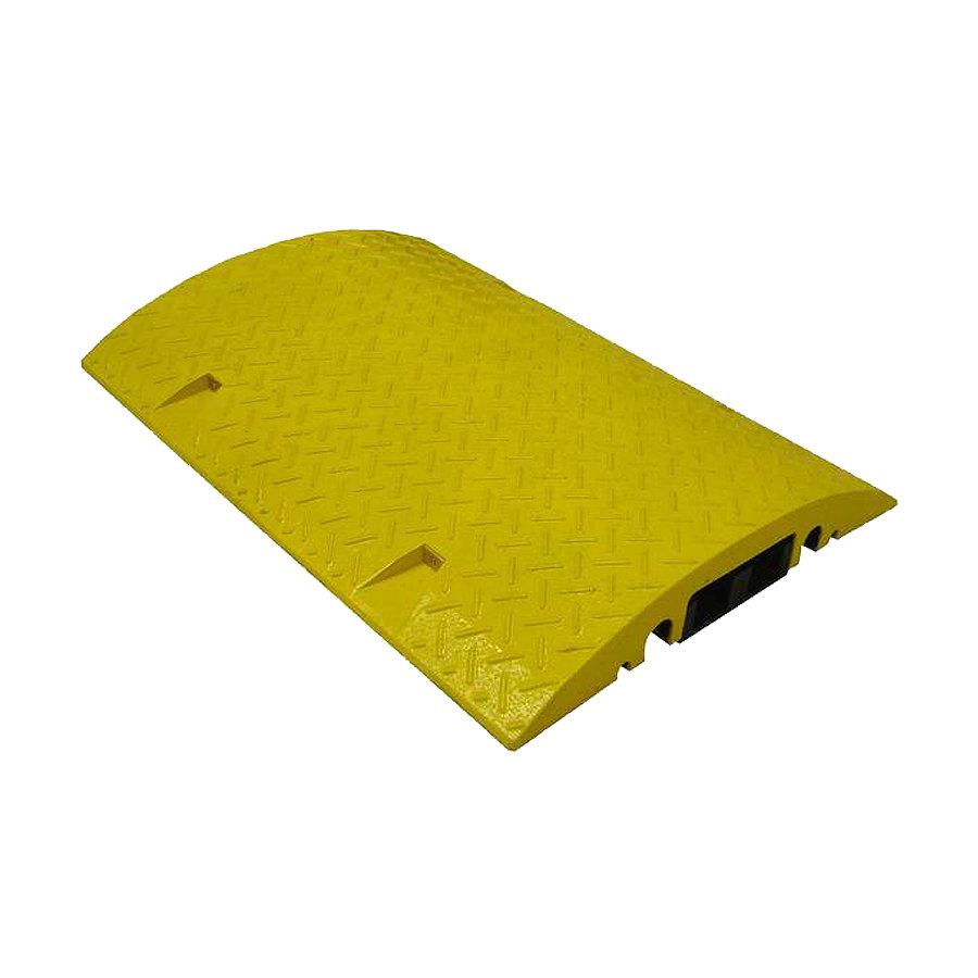 Žlutý plastový kabelový most s vložkou - délka 80 cm, šířka 60 cm a výška 8 cm