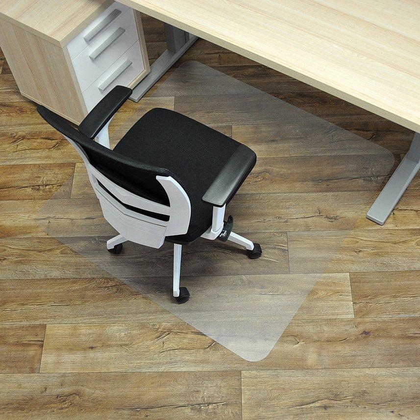 Čirá podložka pod židli na hladké povrchy - délka 120 cm, šířka 120 cm a výška 0,15 cm