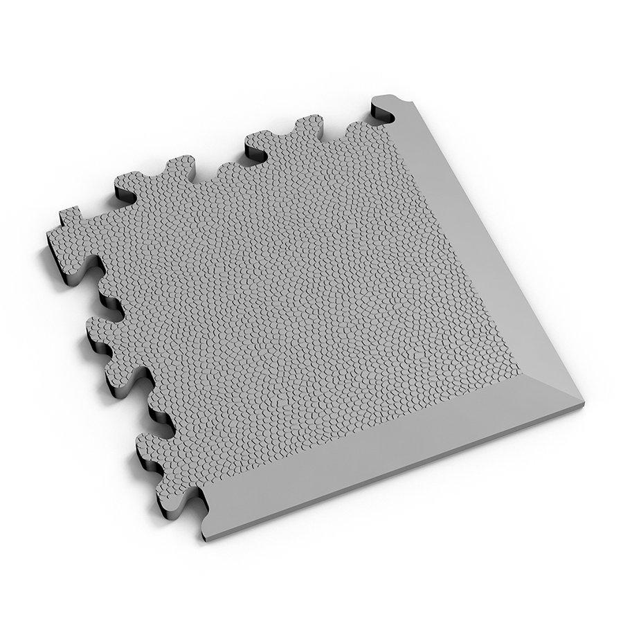 Šedý vinylový plastový rohový nájezd 2026 (kůže), Fortelock - délka 14 cm, šířka 14 cm a výška 0,7 cm