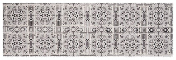 Šedý kusový moderní koberec Cook & Clean - délka 140 cm a šířka 45 cm