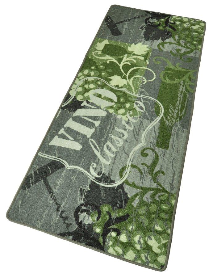 Zelená kuchyňská kusová moderní předložka Loop, 02 - délka 180 cm a šířka 67 cm
