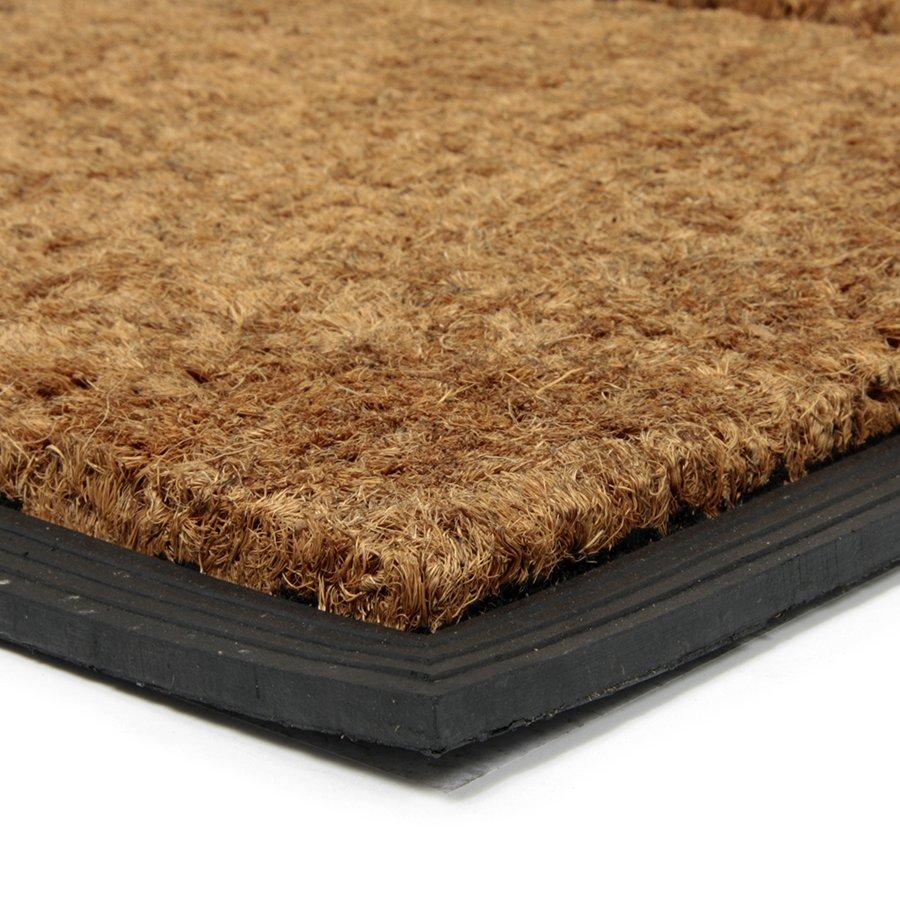 Kokosová čistící venkovní vstupní rohož Stripes - Rectangle, FLOMA - délka 45 cm, šířka 75 cm a výška 2,3 cm