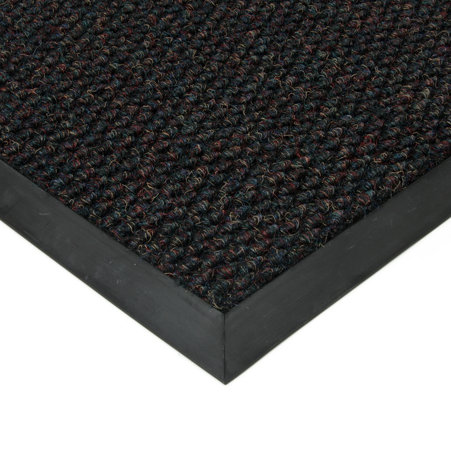 Černá textilní zátěžová čistící vnitřní vstupní rohož FLOMA Fiona - délka 1 cm, šířka 1 cm a výška 1,1 cm