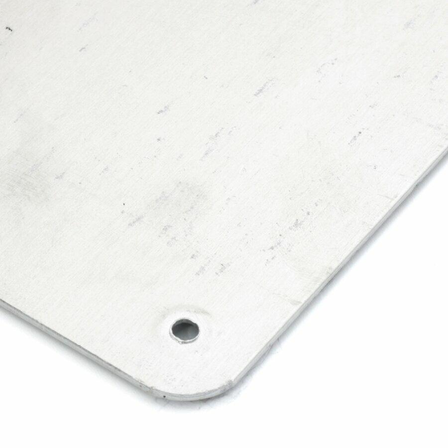 Černo-žlutý hliníkový protiskluzový nášlap na schody FLOMA Hazard Bolt Down Plate - délka 63,5 cm, šířka 11,5 cm a tloušťka 1,6 mm