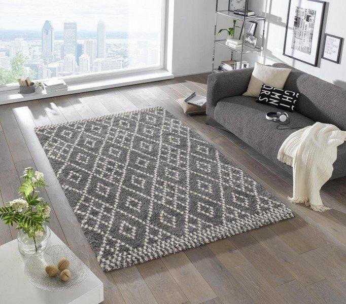 Šedý kusový moderní koberec Grace - délka 150 cm a šířka 80 cm