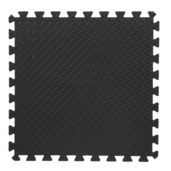 Černá pěnová modulová puzzle podložka (6x puzzle) HMS - délka 180 cm, šířka 120 cm a výška 1,2 cm