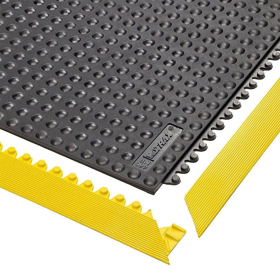 Černá gumová modulární průmyslová rohož Skywalker HD, ESD Nitrile FR - délka 91 cm, šířka 91 cm a výška 1,3 cm