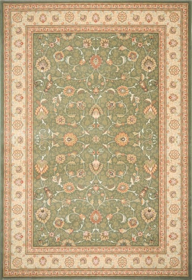 Zelený kusový orientální koberec Nobility - délka 330 cm