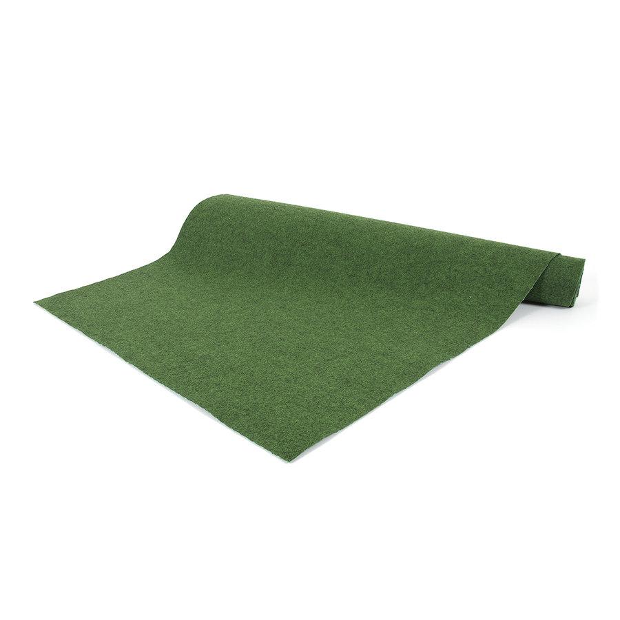 Zelený travní metrážový koberec (s nopy) Basic - délka 1 cm, šířka 200 cm a výška 0,4 cm