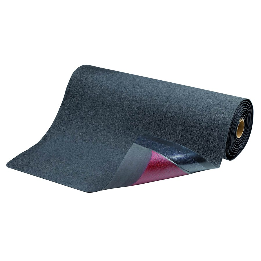 Černá průmyslová protiúnavová protiskluzová rohož pro svářeče Spark Resistant - délka 152 cm, šířka 91 cm a výška 1,27 cm
