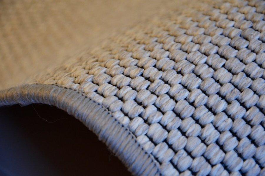 Šedý kusový kulatý koberec Nature - průměr 100 cm