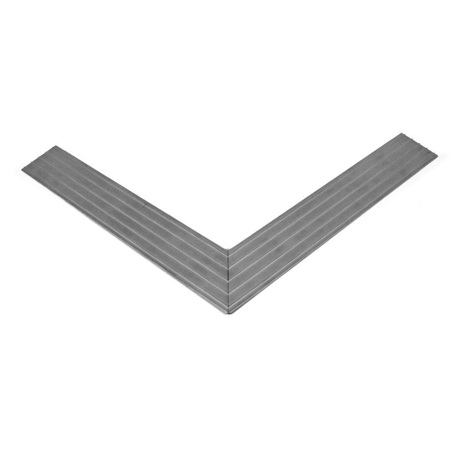 Hliníkový náběhový rám pro vstupní rohože a čistící zóny 100 x 100 cm FLOMA - šířka 4,5 cm a výška 1 cm