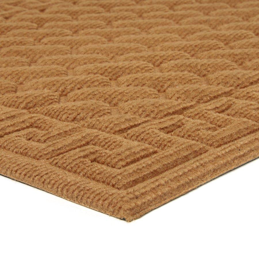 Hnědá textilní vstupní venkovní čistící rohož Bricks - Deco, FLOMA - délka 45 cm, šířka 75 cm a výška 1 cm