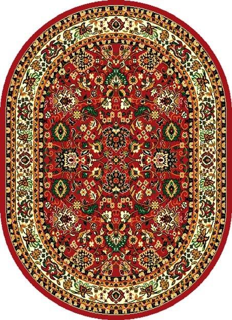 Červený kusový orientální oválný koberec Teheran-T