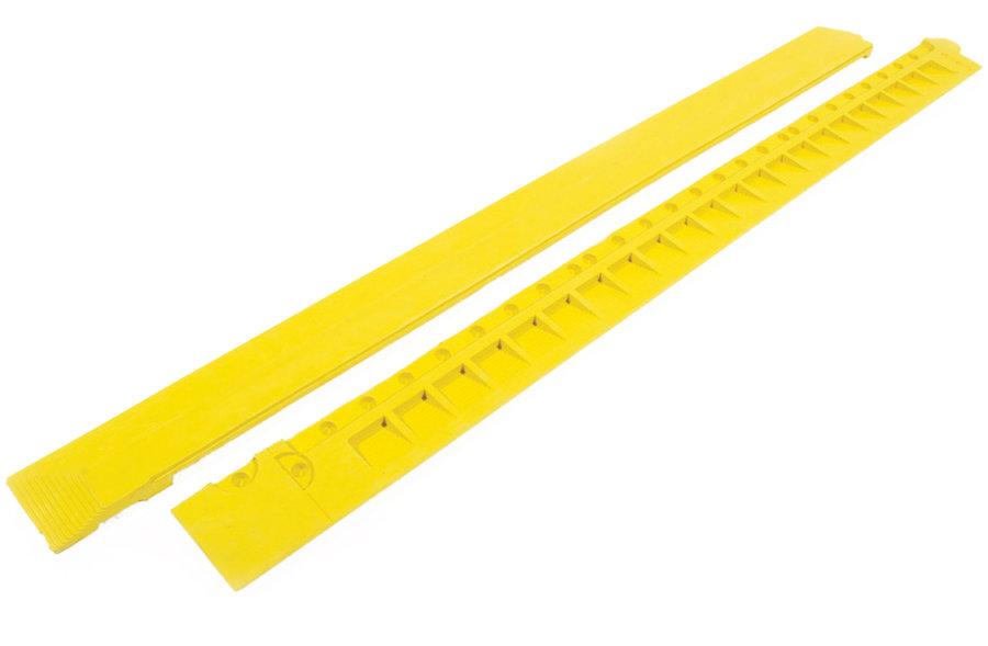 """Žlutá gumová náběhová hrana """"samice"""" (100% nitrilová pryž) pro rohože Fatigue - délka 100 cm a šířka 7,5 cm"""
