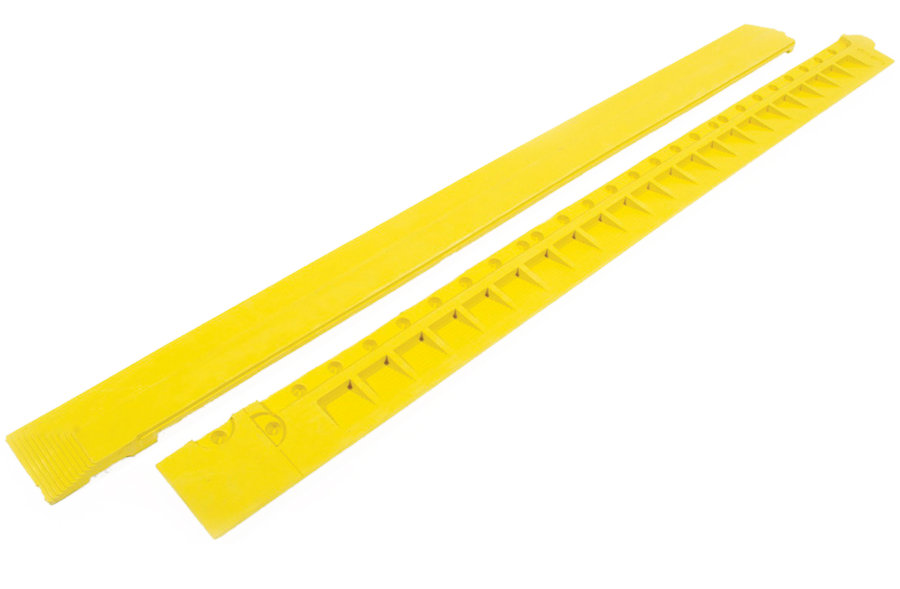 "Žlutá gumová náběhová hrana ""samice"" pro rohože Fatigue - délka 100 cm a šířka 7,5 cm"