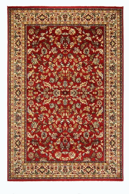 Červený kusový orientální koberec Solid New