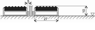 Gumová hliníková kartáčová venkovní vstupní rohož Alu Low Extra, FLOMA - délka 100 cm, šířka 100 cm a výška 1 cm