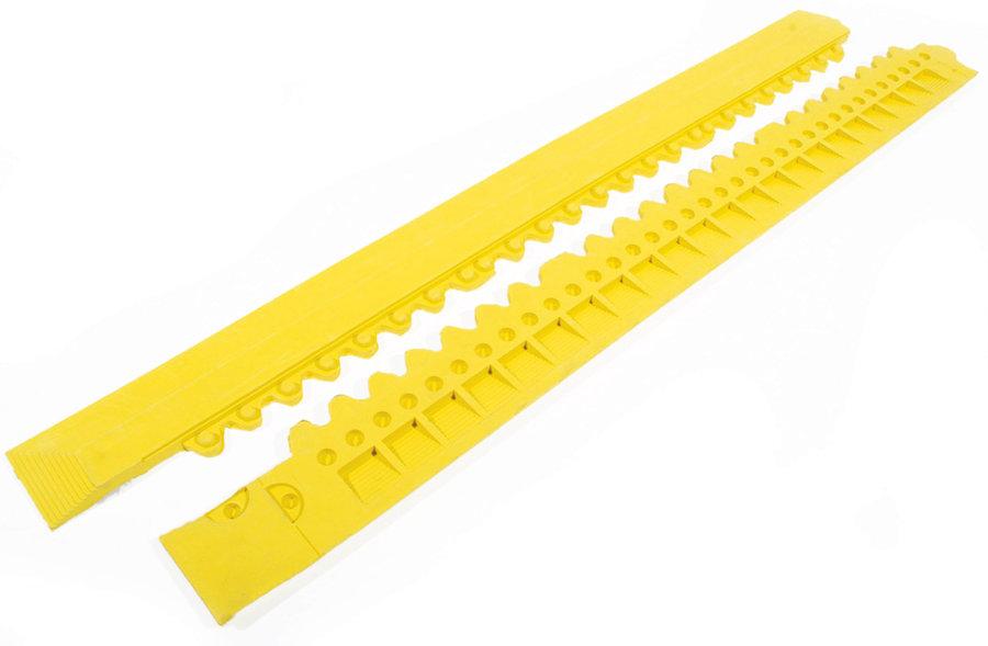 "Žlutá gumová náběhová hrana ""samec"" pro rohože Fatigue - délka 100 cm a šířka 7,5 cm"
