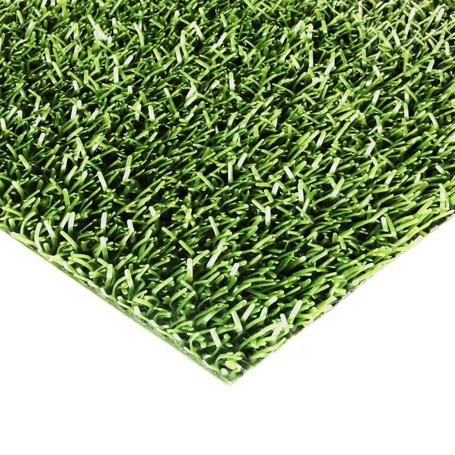 Světle zelená plastová univerzální čistící metrážová vstupní rohož FLOMA Astra - šířka 91 cm a výška 1,8 cm