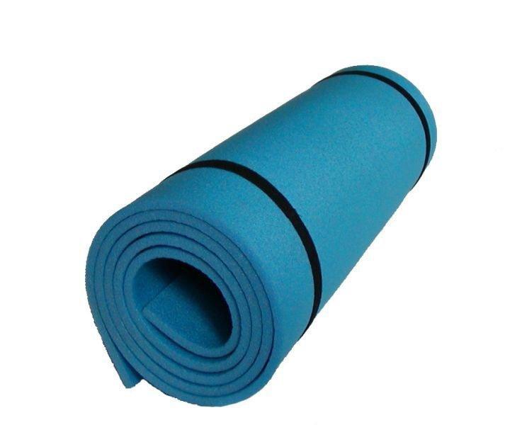 Modrá jednovrstvá pěnová karimatka - délka 180 cm, šířka 50 cm a výška 0,8 cm