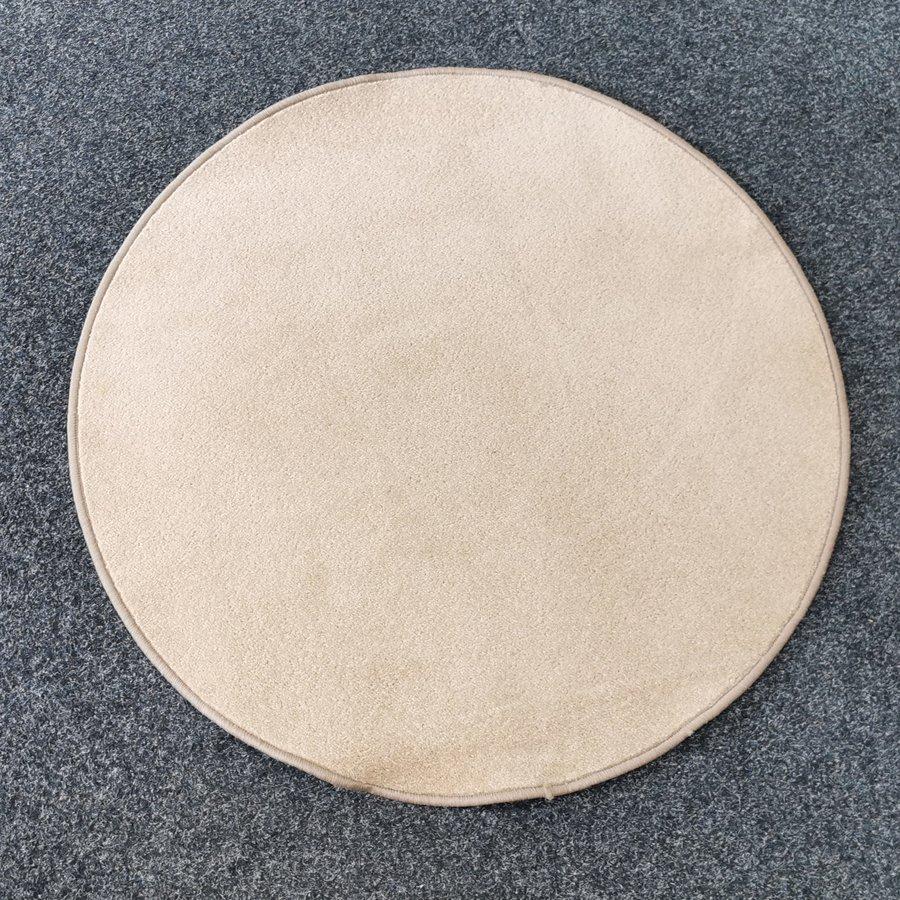 Béžový kusový kulatý koberec Eton - průměr 200 cm