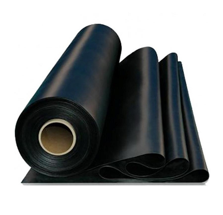 Černá pryžová SBR deska - šířka 100 cm a výška 1 cm