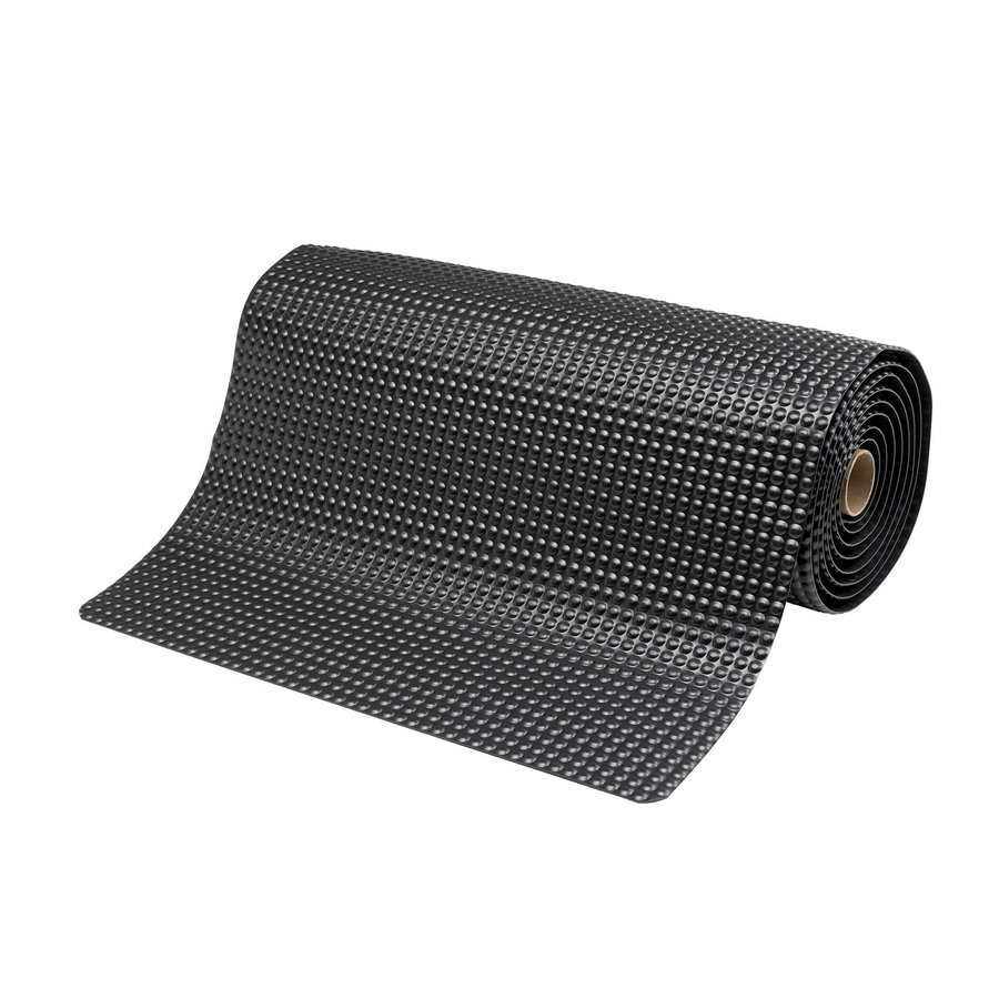 Černá metrážová protiúnavová průmyslová laminovaná rohož - výška 1,9 cm