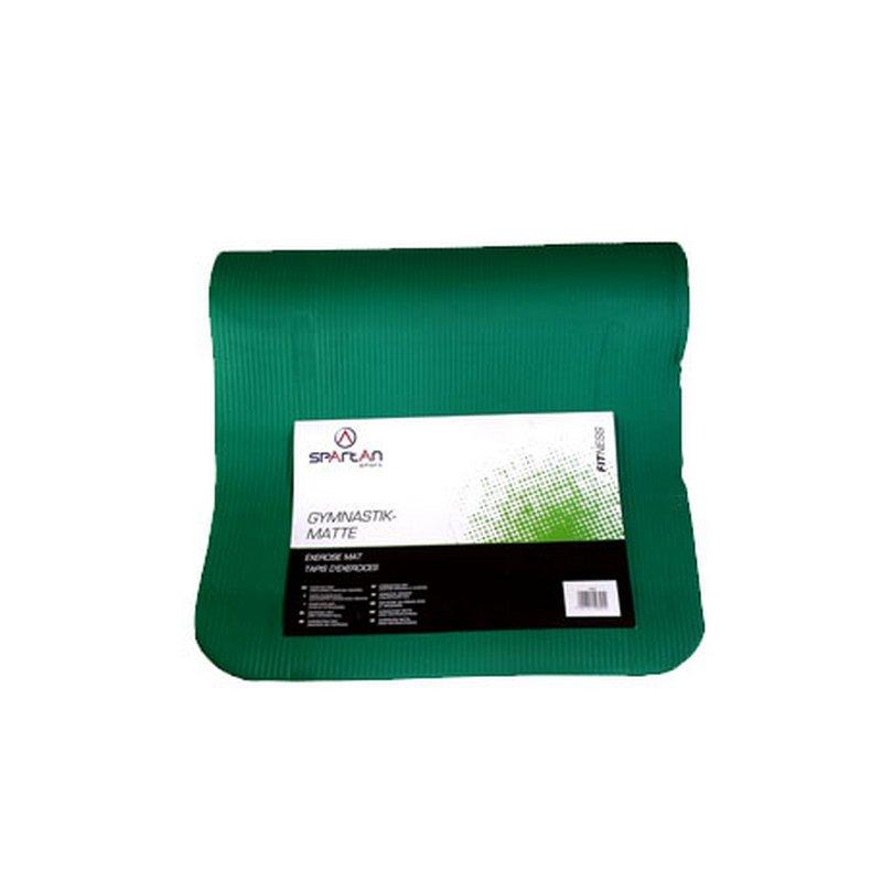 Zelená gymnastická podložka na cvičení SPARTAN SPORT - délka 180 cm, šířka 60 cm a výška 0,9 cm