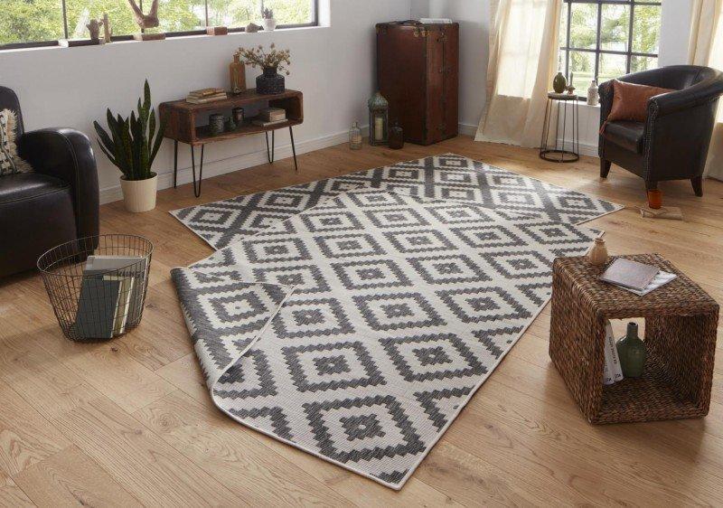 Béžovo-šedý kusový oboustranný moderní koberec Twin-Wendeteppiche