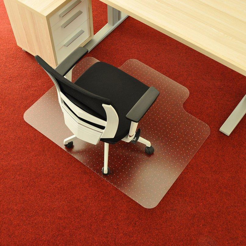 Čirá podložka na koberec 02 pod židli - délka 120 cm, šířka 100 cm a výška 0,3 cm