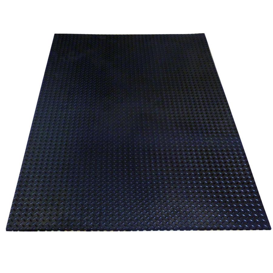 Černá protiskluzová protiúnavová průmyslová rohož Industry - délka 182 cm, šířka 122 cm a výška 1,8 cm