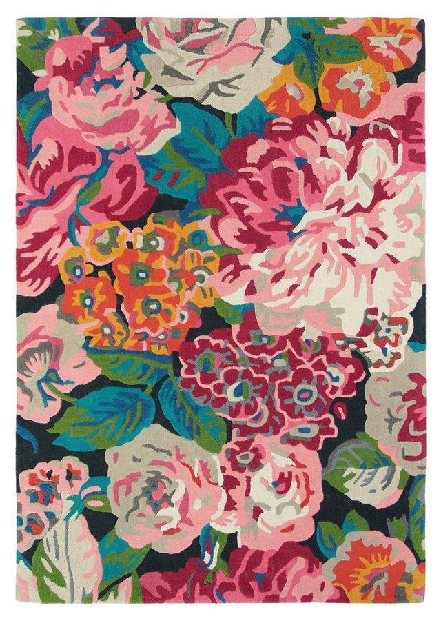 Růžový kusový moderní koberec Rose