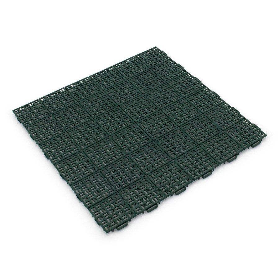 Zelená plastová děrovaná terasová dlaždice Linea Marte - délka 56,3 cm, šířka 56,3 cm a výška 1,3 cm