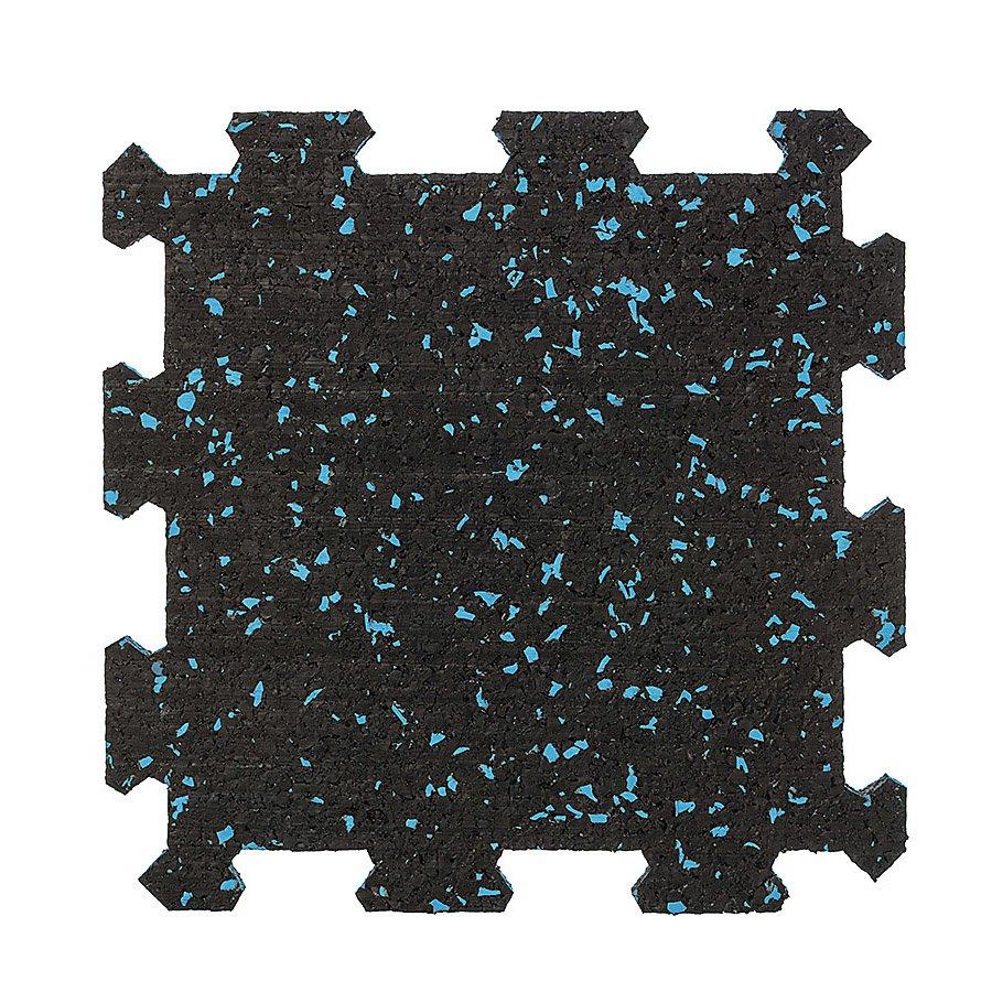 Různobarevná pryžová (10% EPDM STANDARD) modulární fitness deska (střed) SF1050, FLOMA - délka 95,6 cm, šířka 95,6 cm a výška 0,8 cm