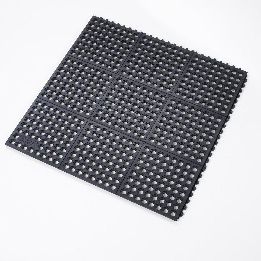 Černá protiúnavová průmyslová rohož FLOMA - délka 91 cm, šířka 91 cm a výška 1,9 cm