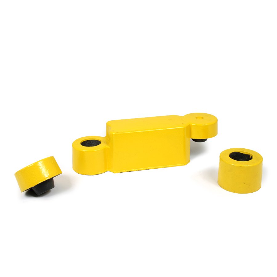 Žlutý plastový silniční obrubník - délka 58 cm, šířka 16 cm a výška 15,8 cm