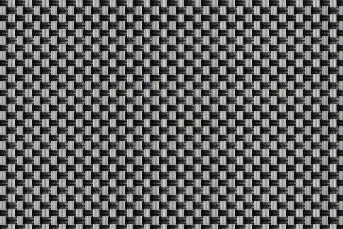 """Černo-šedá plastová ratanová stínící rohož (metráž) """"umělý ratan"""""""