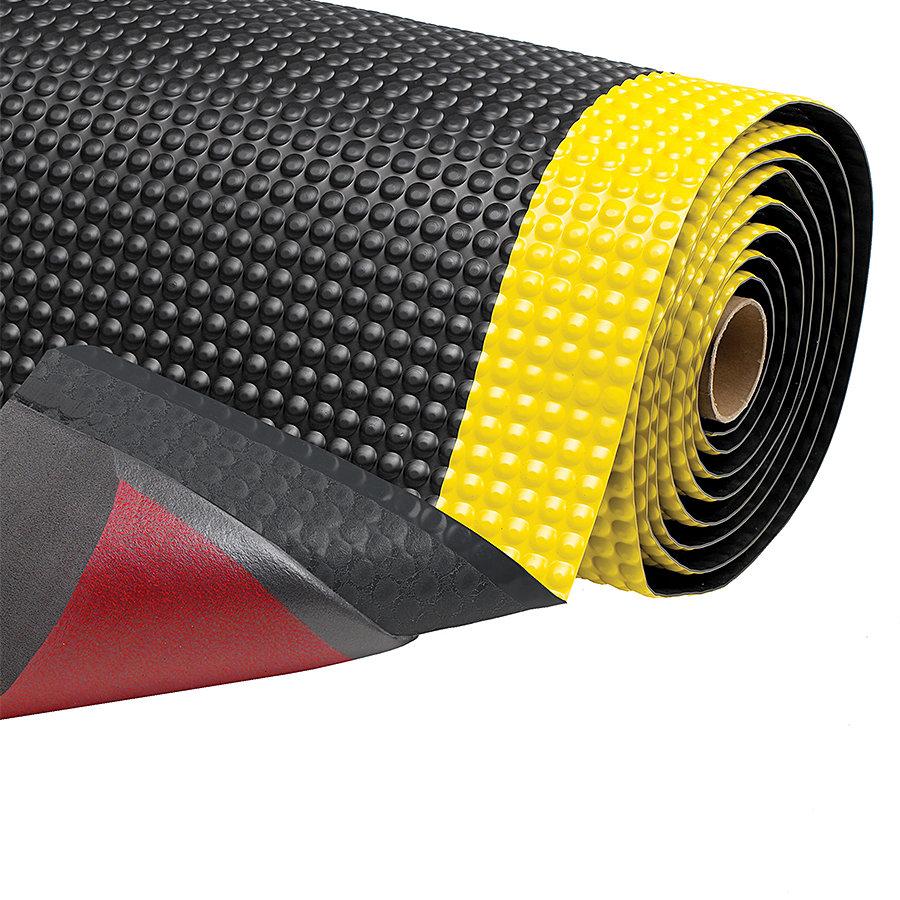 Černo-žlutá protiúnavová průmyslová laminovaná rohož Sky Trax - výška 1,9 cm