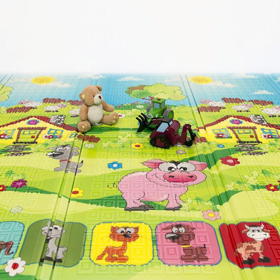 Dětská skládací pěnová hrací podložka Piggy, Casmatino - délka 200 cm, šířka 140 cm a výška 0,9 cm