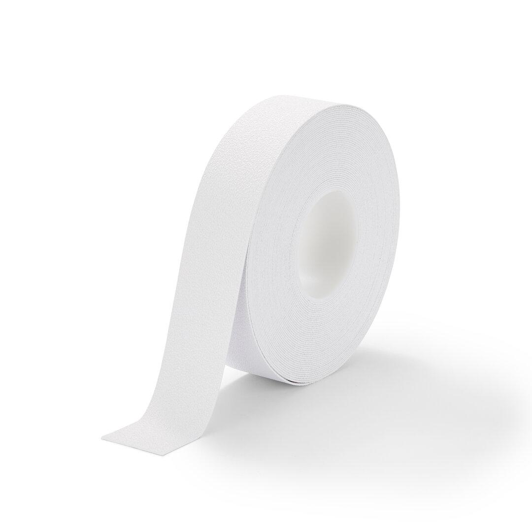 Bílá plastová protiskluzová voděodolná podlahová páska FLOMA - délka 18,3 m, šířka 5 cm a tloušťka 1,3 mm