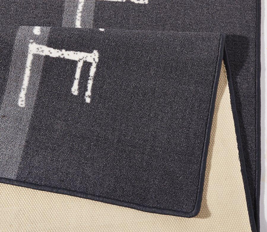 Černá kuchyňská kusová moderní předložka Loop - délka 180 cm a šířka 67 cm