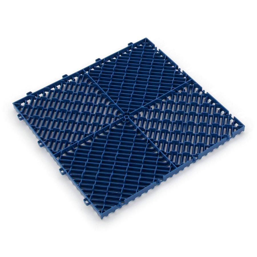 Modrá plastová terasová dlažba Linea Rombo - délka 39,5 cm, šířka 39,5 cm a výška 1,7 cm