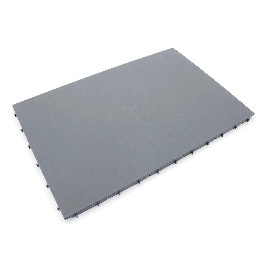 Šedá plastová terasová dlaždice Mega Tile - délka 116 cm, šířka 76 cm a výška 3,5 cm