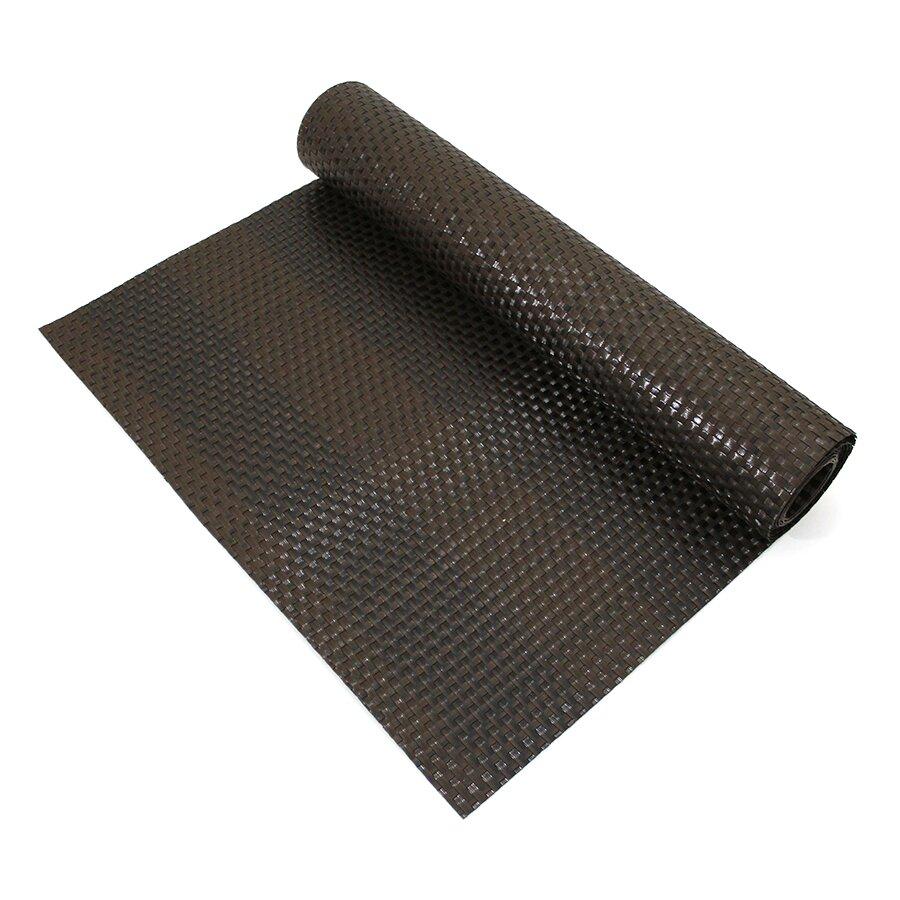 """Černo-hnědá plastová ratanová stínící rohož (metráž) """"umělý ratan"""""""