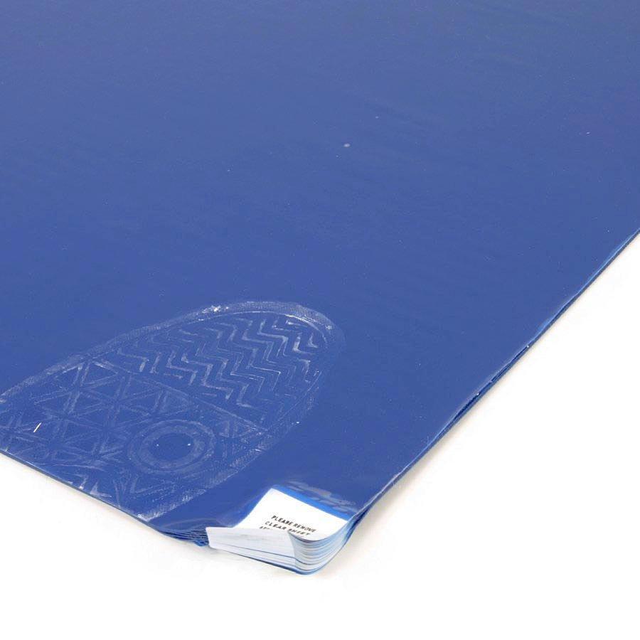 Modrá dezinfekční lepící dekontaminační rohož Sticky Mat, FLOMA - 60 listů
